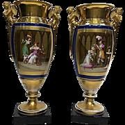 Pair of porcelain vases Sevres - France 1820 - 1830