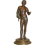 Young Greek - man bronze sculpture