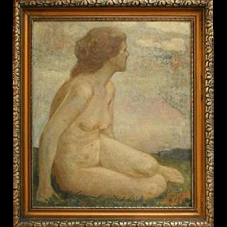 Emil Gustav Adolf Glockner (1863) Germany - Painting a girl