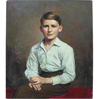 Painting young boy