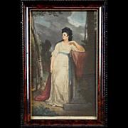 Print on silk - James Walker (1819-1889), painter England-USA.
