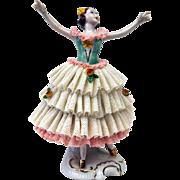 Porcelain lace statue, Germany
