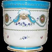 Mintons England - Porcelain Flowerpot