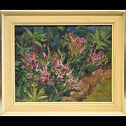 The heather, oil painting, 1970, John Götzová, Bohemia