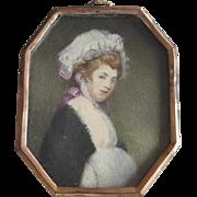 Miniature Countess with a cap - Monogram A. K.