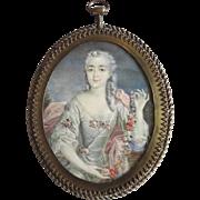 Miniature - Rococo lady.