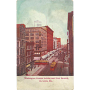 MO St. Louis Downtown, Washington Ave Looking East from 7th Streetcards 1910 Postcard