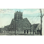 IW Cedar Rapids Trinity Methodist Church 1900s Postcard Photo Type