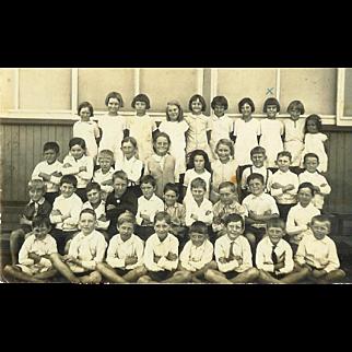 MO West Wortham Class School Postcard RPPC 1930s