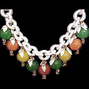 Jan Carlin designer necklace Lucite gumballs fruit