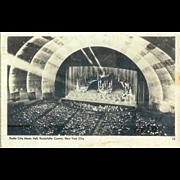 Radio City Music Hall Rockettes Performance RPPC Christmas Pageant Postcard 1940s