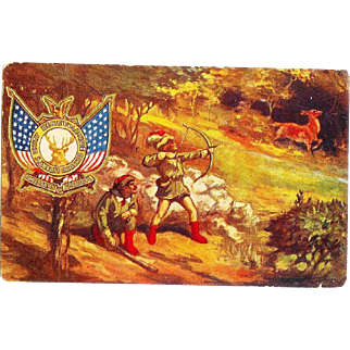 Forester of America Postcard 1940s Patriotic