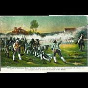 MA Battle of Lexington Postcard 1915 Revolutionary War Captain Parker