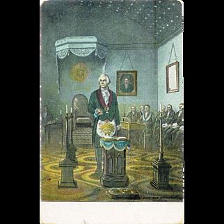 George Washington Alexandria Washington Lodge no 22 General Washington at the Altar Postcard 1910