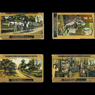 12 Eugene Field Lover's Lane Saint Jo Postcards Circa 1910-11