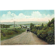 NH White Mountains Bethlehem Road To Bethlehem Horse and Buggy 1900 Postcard