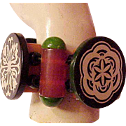 Jan Carlin Designer All Bakelite Bracelet Show Stopper Vintage Bakelite Parts