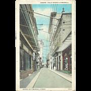 Cuba Havana Obispo O Pimargall Main Street Luxurious Shopping Lace, Jewelry Postcard 1927