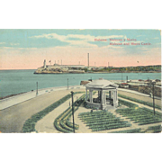 Cuba Havana Malcon and Morro Castle Postcard 1910