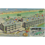 Cuba Havana Hotel Comodoro and Pool Roof Patio, Ocean View Postcard 50s