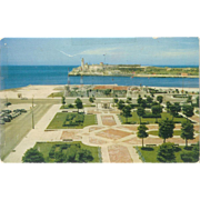 Cuba Havana Aerial View of Morro Castle and Harbor Postcard