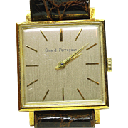 Vintage Girard Perregaux 18k solid Yellow gold Square 1960's WRIST watch