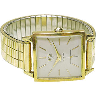 Vintage 14k yellow gold HAMILTON Masterpiece Men's Wrist Watch Western Electric