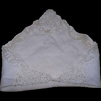 1940's Bridal Wedding Handkerchief