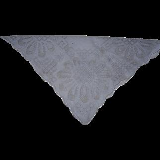 1950's Wedding Irish Linen Handkerchief