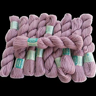 1950's  Bucilla Yarn 10 Skeins 100% Virgin Wool