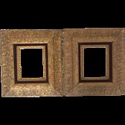 Elegant Matched Pair of Gilt Gesso & Velvet Wood Frames