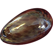 Unusual Large 19th Century Amber Blown Glass Egg