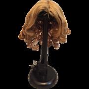 Original Jumeau Human Hair Wig for Size 8 Bebe