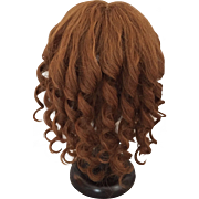 Wonderful Thick Human Hair Antique Doll Wig for Large Bisque Doll