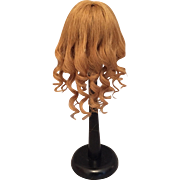 """Graceful Dark Strawberry Blonde Antique Human Hair Wig for French or German Bisque Doll 11-12"""" HC"""