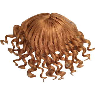 """Darling Vintage French Human Hair Blonde Doll Wig for French or German Bisque with 9-10.25"""" HC"""