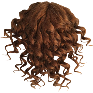 Sumptuous Chestnut Brown Antique Human Hair Doll Wig for French or German Bisque with 10-11.5 inch HC