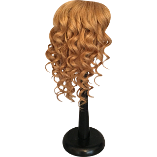 Heavenly Hand Tied Honey Blonde Antique Human Hair Doll Wig for French or German Bisque with 11-12 Inch HC