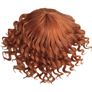 """Stunning Strawberry Blonde Vintage Human Hair Doll Wig for French or German Bisque 14""""-16"""" HC"""