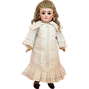 "Rare and Gorgeous 16"" Jules Steiner Series C French Bisque Bebe with Lever Eyes"