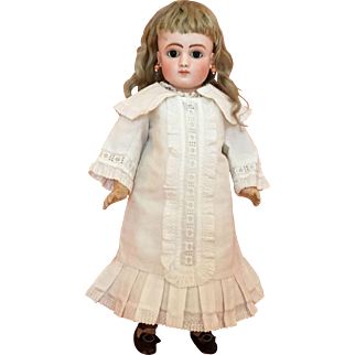 """Rare and Gorgeous 16"""" Jules Steiner Series C French Bisque Bebe with Lever Eyes"""