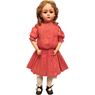 """Gebruder Heubach 22"""" German Bisque Character Child 8192 with Sweet, Demure Expression"""