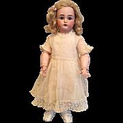 """Pristine 18.5"""" Kammer & Reinhardt German Bisque Doll Original Wig & Body Finish"""