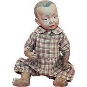 Rare Brown-Complexioned Model 100 German Bisque Baby of Kammer & Reinhardt Art Character Series