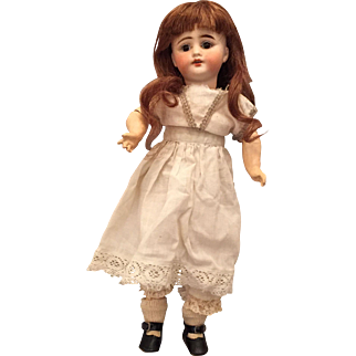 Sonneberg Cabinet Size Bisque Doll w/ Sweet Expression