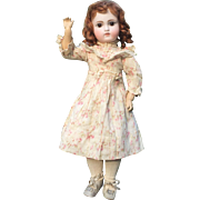 "Gorgeous 17"" Sonneberg German Bisque Doll Marked 121"