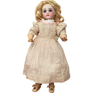 "Breathtaking 12"" Portrait Face Sonneberg German Bisque Doll"