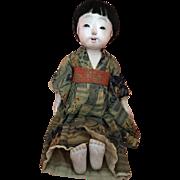 "All Original 17"" Japanese Ichimatsu Play Doll Circa 1920s"