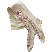 Ladies Intricately Embroidered Victorian Stockings from the Victorian Era
