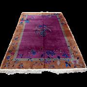 Art Deco Chinese Nichol rug 6x9 ft